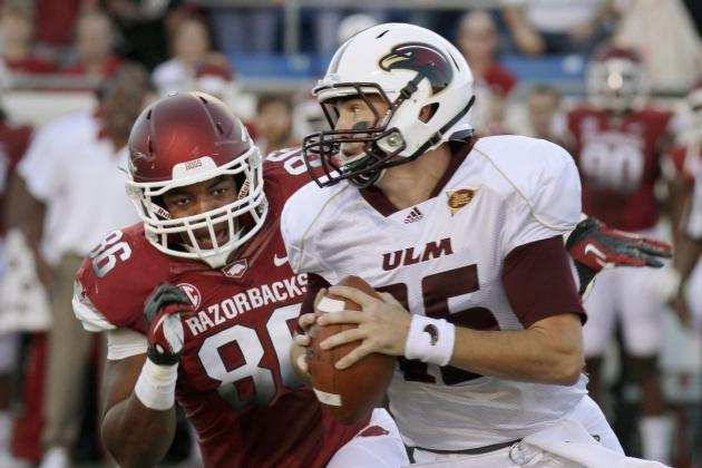 Louisiana-Monroe Shocks No. 8 Arkansas with 34-31 OT Win