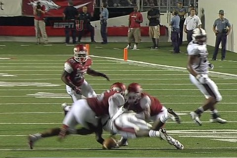 Arkansas CB Tevin Mitchel Likely out vs. Alabama Following Scary Neck Injury