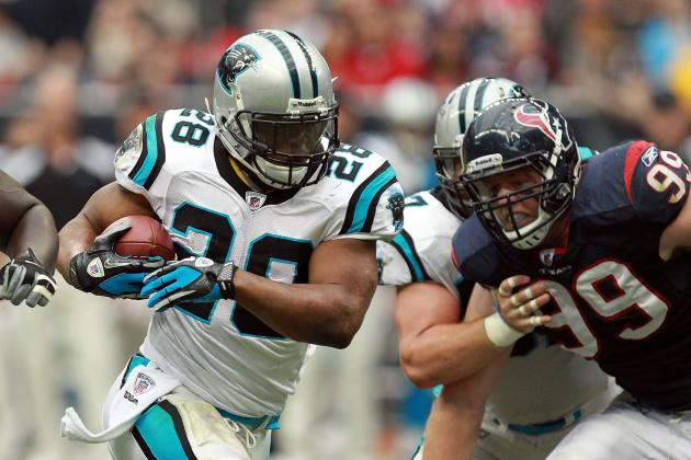 Jonathan Stewart: Ankle Injury Will Keep Panthers RB Out of Action vs. Bucs
