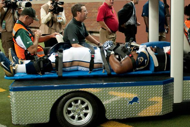 Rams Tackle Rodger Saffold Carted off After Collapsing vs. Lions