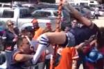 Chicago Bears Tailgate Stripper Pole FAIL