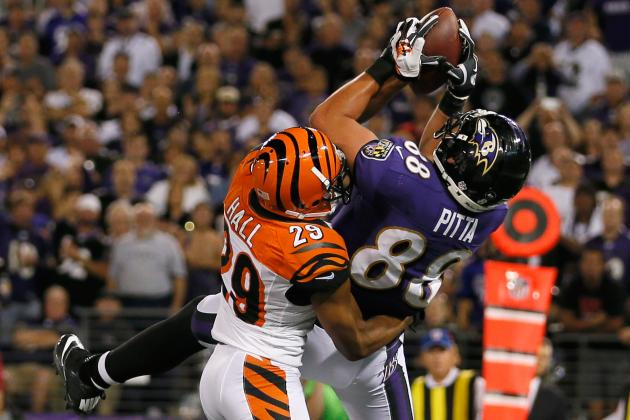 Dennis Pitta: Strong Showing vs. Bengals Makes Pitta Great Waiver Wire Option