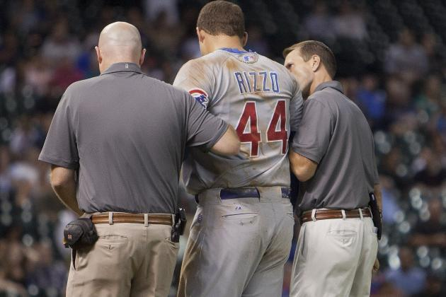 Anthony Rizzo Leaves Game Following Awkward Collision
