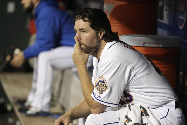 Dickey Can't Snag 19th Win in Mets' Loss to Nationals