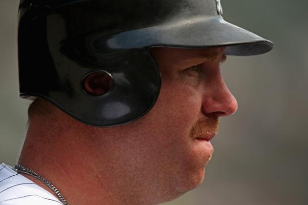 Adam Dunn's Right Oblique Is Not Making Much Progress