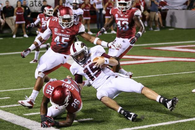 Alabama vs. Arkansas: Who's Under More Pressure, Hogs Defense or Knile Davis?