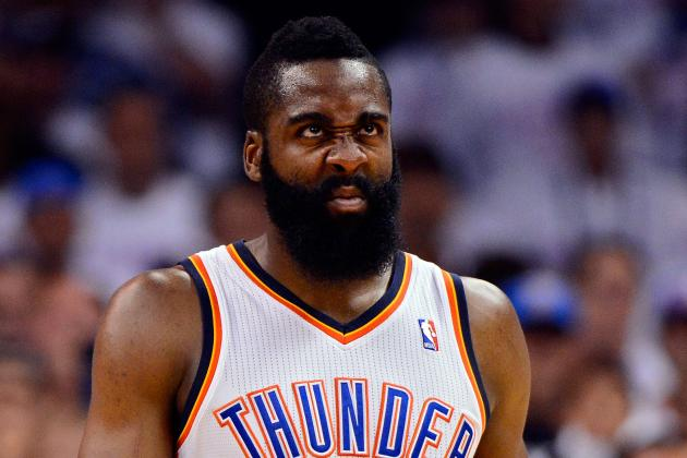 Report: James Harden Nowhere Near New Deal with Thunder