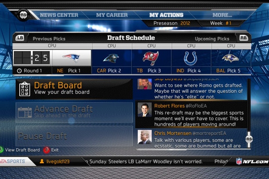 Madden NFL 13: Online Fantasy Drafts Now Available in Connected Careers