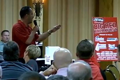 Nebraska Football Video: John Papuchis Gets Inappropriately Angry with Fan