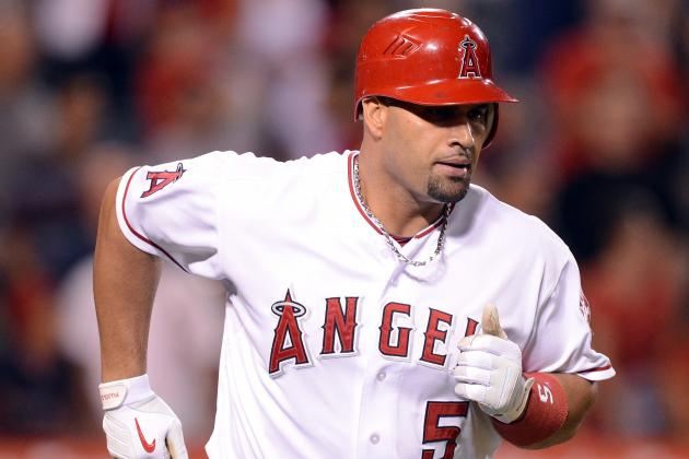 Albert Pujols Starting at First Base Tonight for the First Time Since August 22