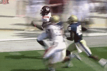 Virginia Tech Blocker Cleared Out Two Panthers On Punt Return Touchdown
