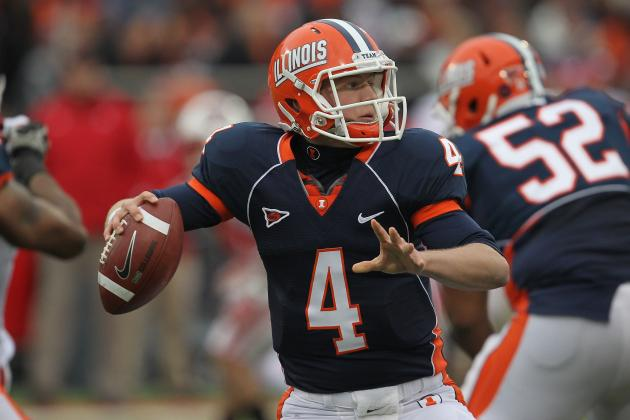 O'Toole throws for 5 TDs as Illinois rolls to win