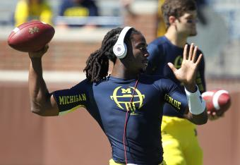 Denard Robinson did what I thought he'd do today.