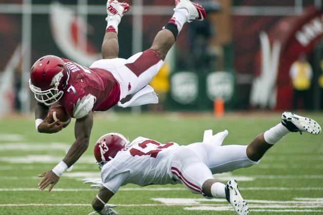 Alabama vs. Arkansas: Absence of QB Tyler Wilson Is No Excuse for Razorbacks