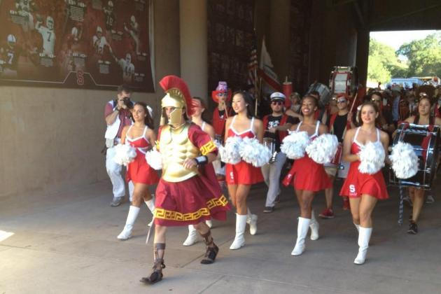 Photo: Stanford Band Leader Dresses Up as a Trojan