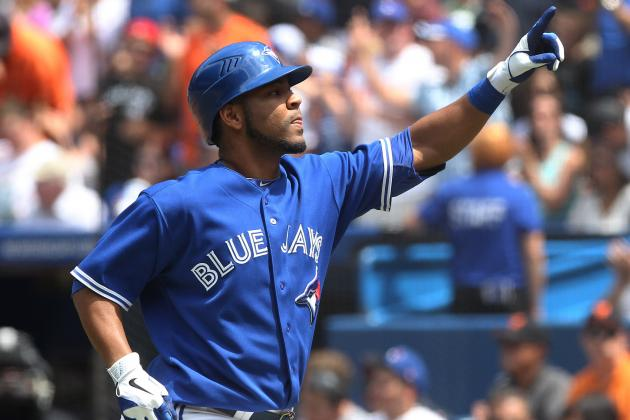 Blue Jays' Encarnacion Scratched with Sore Toe