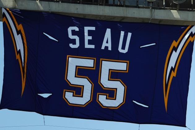 San Diego Chargers to Retire Junior Seau's Number 55 Before Sunday's Home Opener