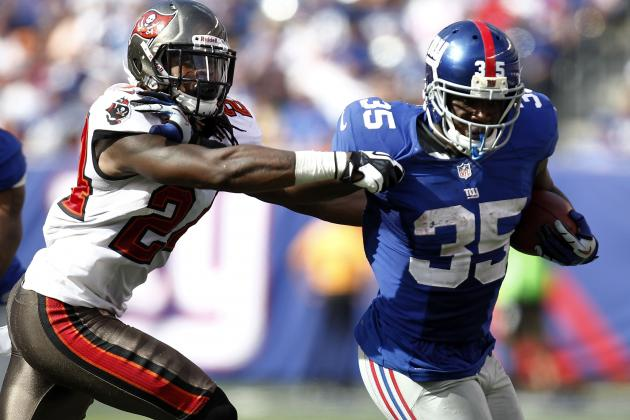 Andre Brown vs. David Wilson: Who Has Most Fantasy Value After Bradshaw Injury?