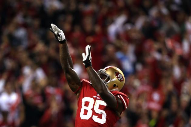 Vernon Davis, Frank Gore Strike Again as Niners Beat Lions, Improve to 2-0