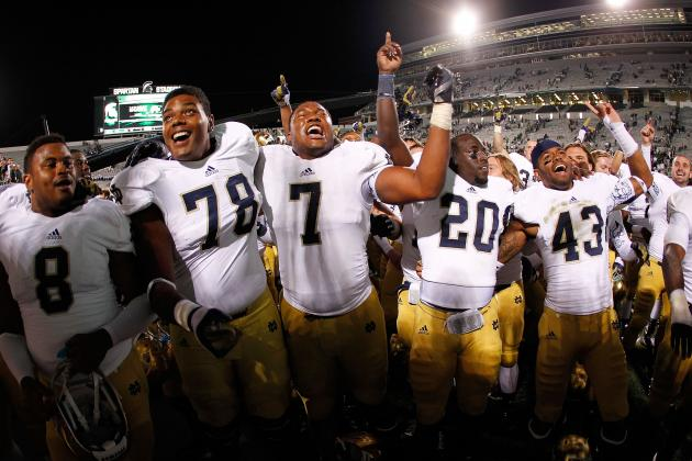 2012 College Football Week 4 Power Rankings: Notre Dame Back in the Spotlight