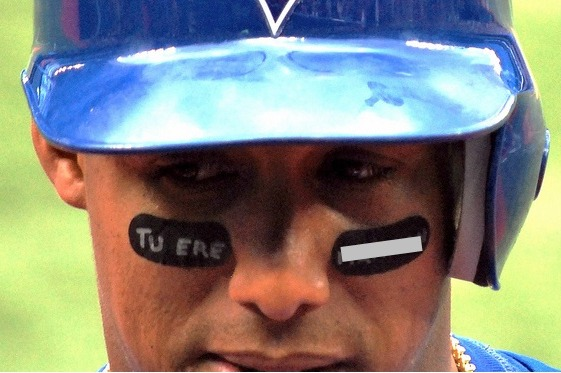 Yunel's eyeblack has a disappointing message.