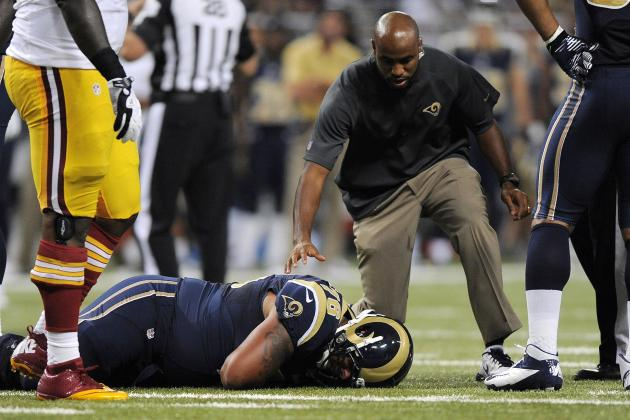 Rams Left Tackle Suffers Injury in Back-to-Back Weeks, Plus More NFC West News