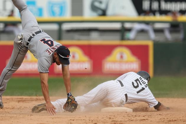 Rios' All-out Slide at Second a Winner