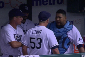 Alex Cobb, Jose Molina Had to Be Separated in Rays Dugout