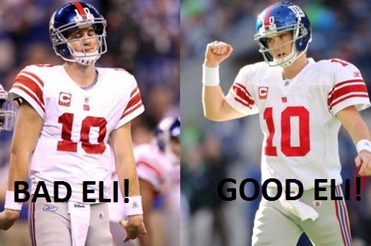 New York Giants: Comparing 'Good Eli' to 'Bad Eli' vs. Tampa Bay