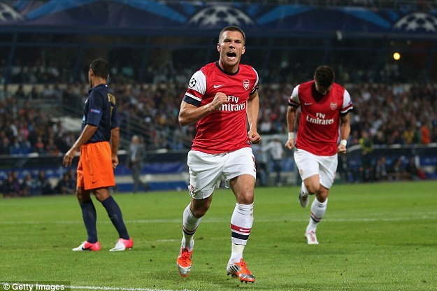 Podolski and Gervinho Help Gunners Come from Behind