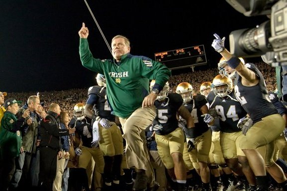 Brian Kelly seems like he might be, finally, the right coach for Notre Dame