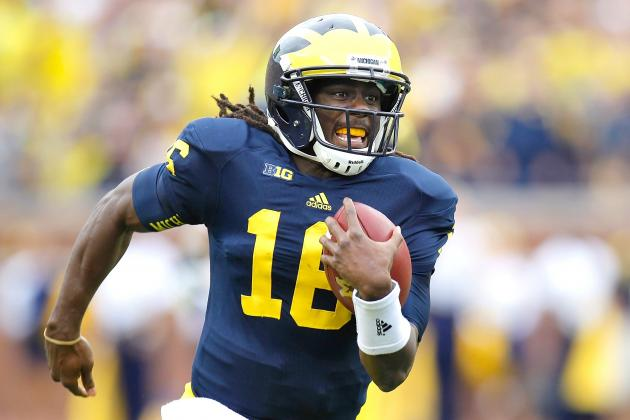 Michigan vs. Notre Dame: Denard Robinson & Everett Golson Are Very Different QBs
