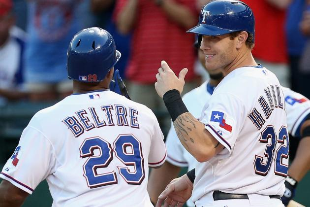 Hamilton, Beltre Both Out of Tonight's Lineup