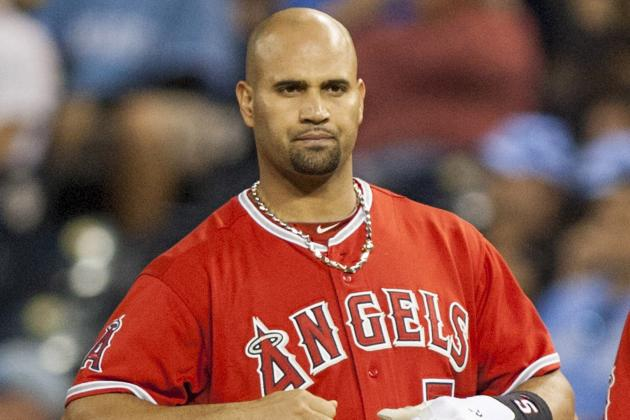 Pujols Returns to Angels Lineup; Hamilton, Beltre out for Rangers