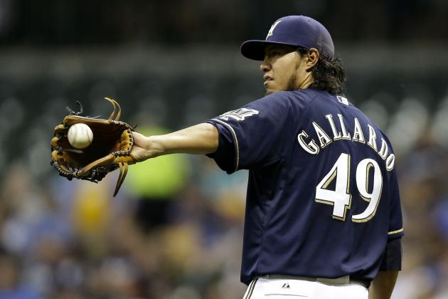 Yovani Gallardo Stakes Claim as Most Consistent Pitcher in Brewers' History