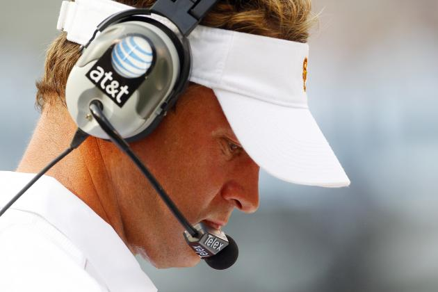 Lane Kiffin Video: USC Trojans Head Coach Acts Like a Child by Leaving Presser