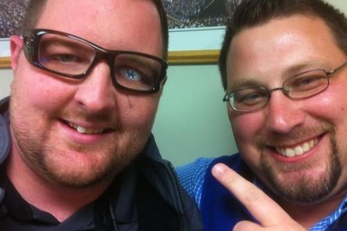 Kentucky Wildcats Fan Shows Support with UK-Logo Glass Eye