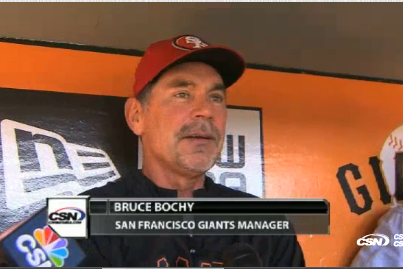 SF Giants' Bruce Bochy Shows Solidarity and Dons 49ers Hat for Alex Smith