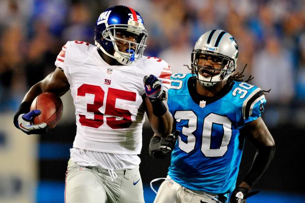 Andre Brown: Monster Game vs. Panthers Proves Giants RB Is Viable Fantasy Option