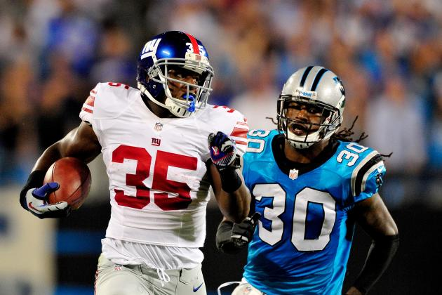 Andre Brown: Big Night for Giants RB Makes Him Attractive Flex Option Each Week