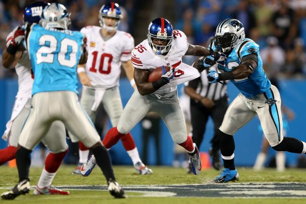 Fantasy Football 2012: Andre Brown Leads 'Random Thoughts' from Giants-Panthers