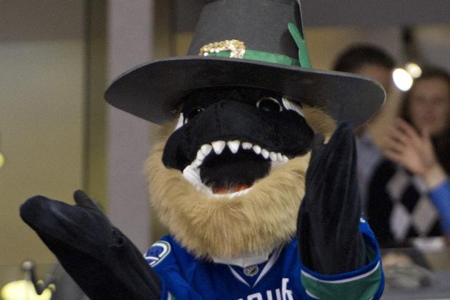 Vancouver Canucks Mascot Fin Takes Pay Cut, Still on the Job