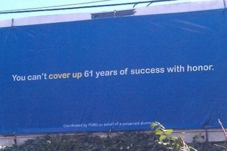 Billboard claims Joe Paterno's success can't be 'covered up'