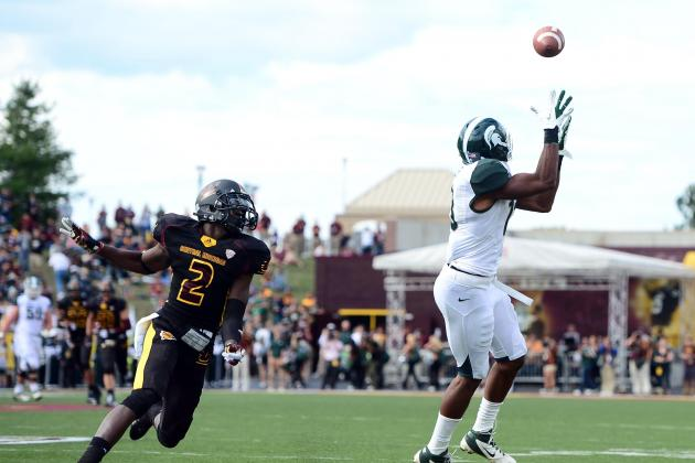 Michigan State's Bennie Fowler Not Down on Himself After a Dropped Ball