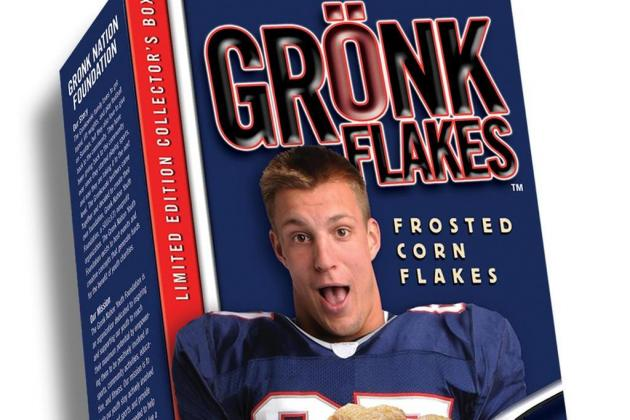 Rob Gronkowski's 'Gronk Flakes' Cereal Is Deliciously Hilarious