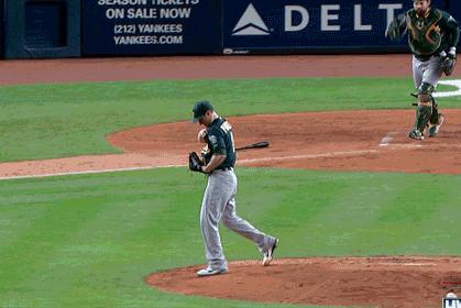 Ichiro Singles Thru Pitcher's Jersey