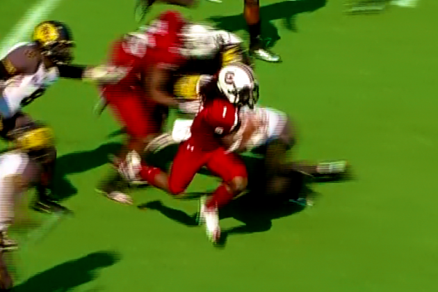 South Carolina's Ace Sanders Breaks Off Insane Punt Return