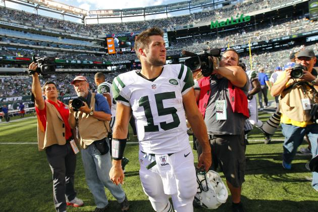 Tim Tebow: Why Polarizing QB Should Play Big Role for Jets vs. Dolphins