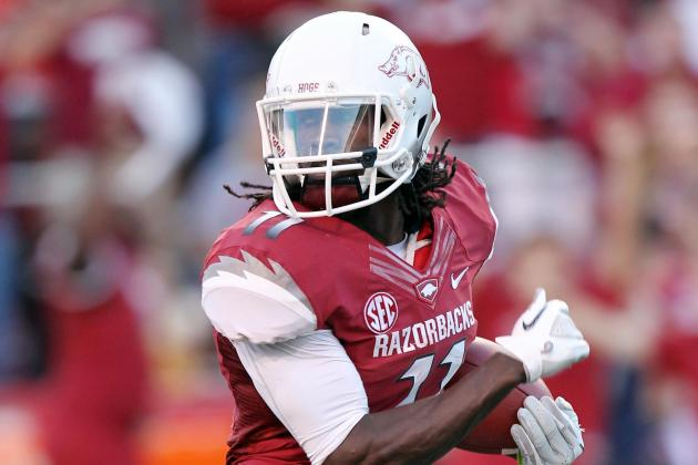 Cobi Hamilton: Arkansas WR Torches Rutgers with Record-Breaking Performance