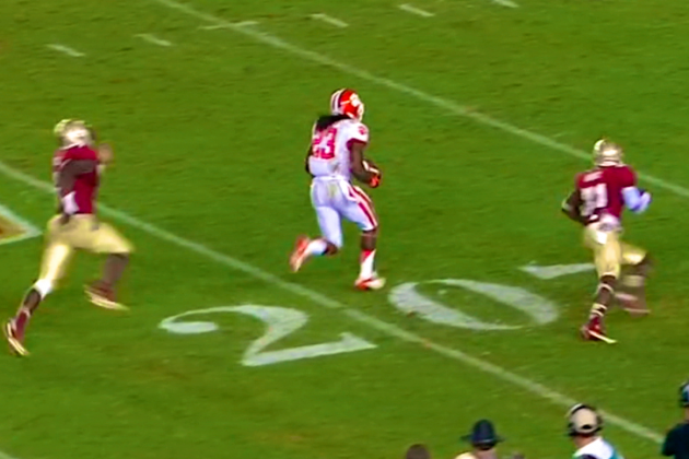 Clemson vs. Florida State: Sammy Watkins Finds Andre Ellington on Trick Play